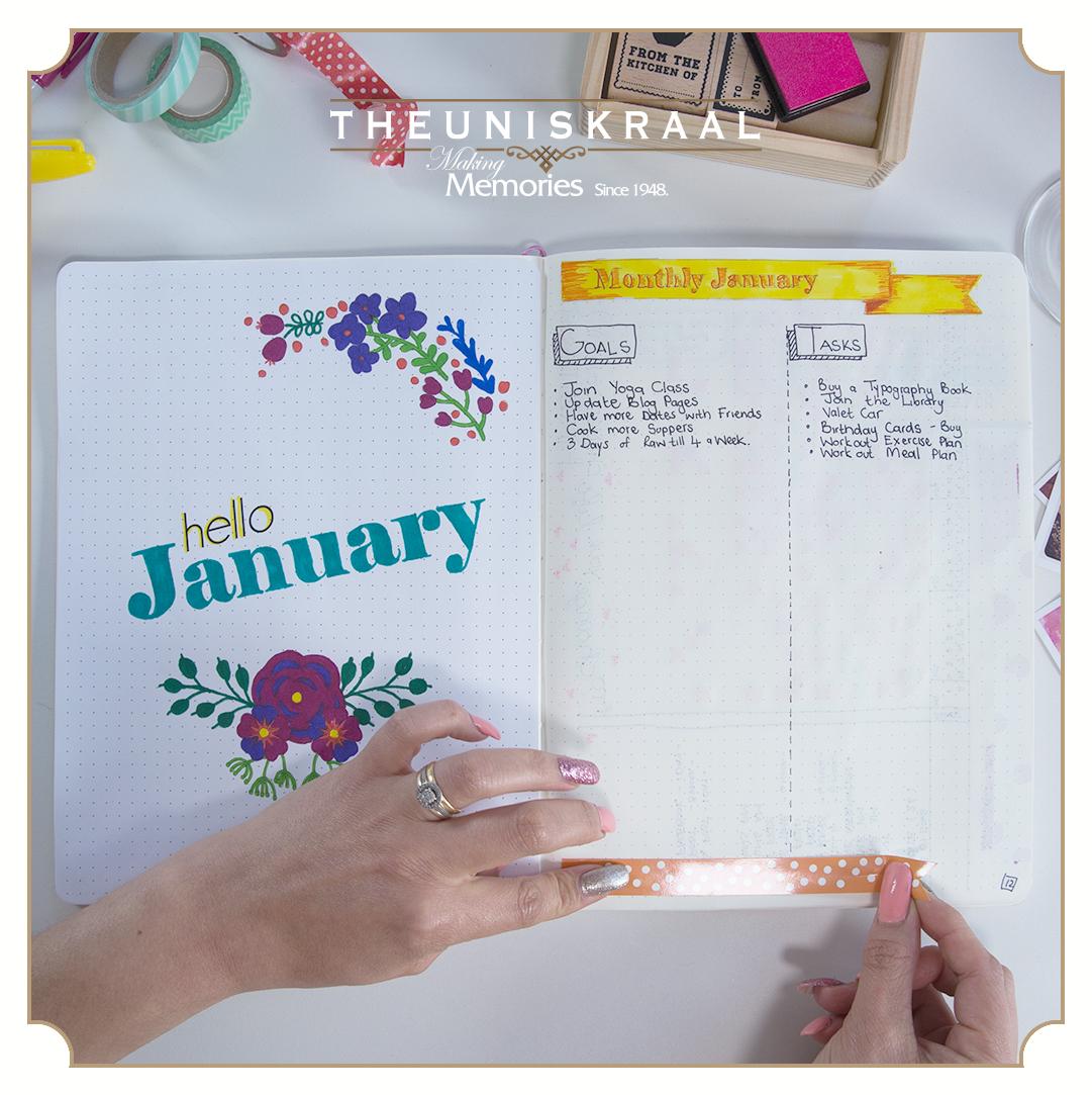 Theuniskraal bullet journal